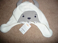 New Gymboree White Yeti Hat Fleece Winter Hat Size 4 (Small) NWT Arctic Explorer