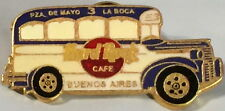 "Hard Rock Cafe BUENOS AIRES 1990s ""COLECTIVO"" BUS PIN White with Blue HRC #1444"