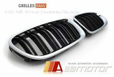 2011-2015 BMW F10 F11 F18 5-Series M5 Style Chrome Front Kidney Hood Grilles