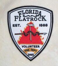 """Florida Flatrock Volunteer Fire Dept Patch - Ohio - 4 1/4"""" x 5"""""""
