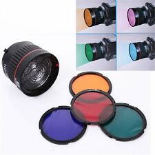 Professional Focusing Lens for LED / Flash Studio Light With 4 Color Filters