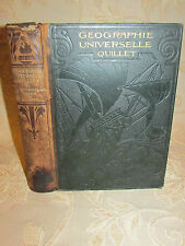 Antique Collectable Book Of Geographie Universelle Quillet Illustree - 1923