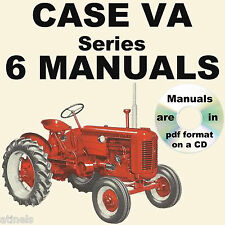CASE VA Series Engine & Tractor REPAIR SERVICE OPERATOR PARTS Manual -6- MANUALS