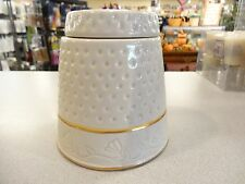 Vintage THIMBLE COOKIE CANDY JAR The House of Webster MADE IN TEXAS