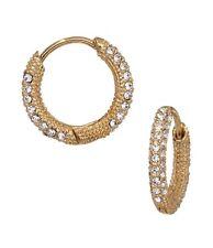 Nadri Cubic Zirconia Pave Huggie Hoop Earrings, Gold tone ,NWT $40