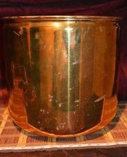 "Large Brass Planter Home Decor, Log Bucket 14 1/4""x13 3/8"""