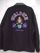 WORLD GYM CHICAGO Men Full Zip Stitch Gorilla Jacket XXL Tony Nowak Original USA