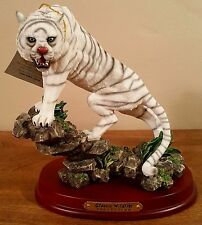 """7"""" Tall Classic Wildlife Collection White Tiger Figurine Statue"""