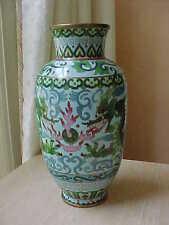"""Japanes Meiji cloisonne 8 1/4"""" dragon vase"""