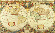 Antique World Map Wallpaper Wall Mural