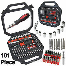 100 Piece Screwdriver Nut Driver Socket Bit Tool Set Phillips Pozi Torx Slotted