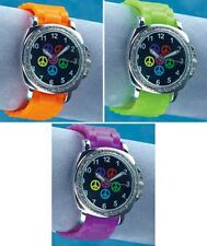 5-PIECE WATCH SET - PEACE SIGN WITH INTERCHANGEABLE BANDS