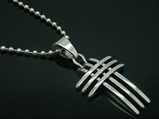 PENDANT STAINLESS STEEL 316L  CROSS MEN'S WOMEN'S JEWELLERY 02
