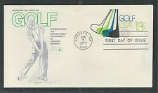 # U583 SPORT OF GOLF   1977 Fleetwood Postal Stationary First Day Cover
