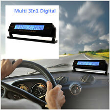 Car Auto Voltage Digital Monitor Battery Alarm Clock LCD Temperature Thermometer