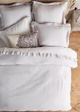 New Anthropologie Soft Washed Linen Duvet size King - Light Grey