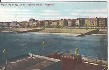 Postcard - Front from West Pier looking West Brighton Sussex posted 1909