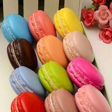 New Arrival Kawaii Soft Dessert Macaron Squishy Cute Cell phone Charm Key Straps