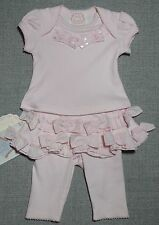 BABY BISCOTTI NEWBORN OR REBORN DOLL BUNDLE OF JOY TOP & TUTU LEGGINGS SET NWT
