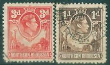 [JSC]1951 NORTHERN RHODESIA King George VI, 3d & 1d