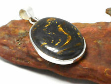 Tiger  IRON   Sterling  Silver  925  Gemstone  PENDANT  -  Gift  boxed!