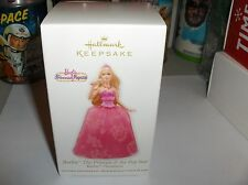 Barbie`2012`Princess & Pop Star`Handcrafted & Fabric`Hallmark Ornament Free 2 US