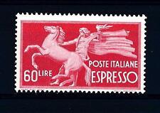 """ITALIA REP. - Espressi - 1947 - Serie """"Democratica"""" - 60 L. - Cavallo trattenuto"""