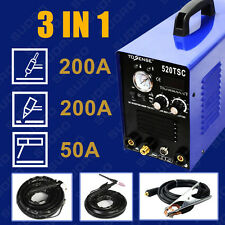NEW 3in1 50A PLASMA CUTTER 200 AMP TIG STICK/ARC WELDER & torches & 110/220V