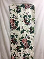 """Valance White Floral Fruit 78"""" X 16"""" Roses Pink Green French Country P3"""