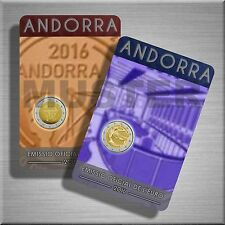 """2 x 2 Euro Gedenkmünze Andorra 2016 BU """"Reform"""" und """"Radio"""" - Coincard - VVK"""