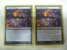 MTG Magic the Gathering NM X2 CABAL THERAPY Gold Border World Championships 2003