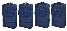 "4-Pack 40"" Navy Rolling Wheeled Expandable Duffle Bag Spinner Suitcase Luggage"