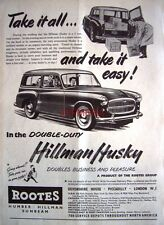 Hillman HUSKY 1955 Station-Wagon Motor Car ADVERT #2 - Original Auto Print AD