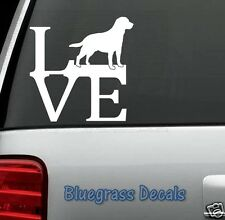B1007 LAB LABRADOR RETRIEVER LOVE DOG Decal Sticker for Car Truck SUV Van LAPTOP