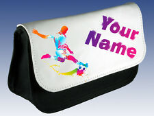 SOCCER / FOOTBALL PERSONALISED PENCIL CASE / DS CASE BAG- GREAT GIFT & NAMED TOO
