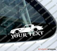 Custom, your text LOW  1979 Chevrolet camaro Z28 muscle car outline sticker