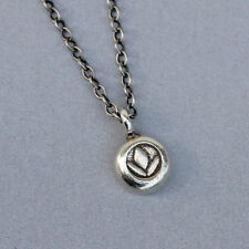 U&C Sundance 925 Sterling Silver Thick Round Coin Lotus Oxidized Chain Necklace