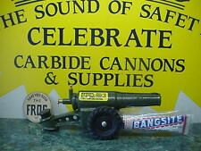 NEW IN BOX 60MM BIG BANG CANNON BANGSITE CALCIUM CARBIDE CAST IRON CONESTOGA TOY