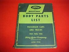 1944 1945 1946 MERCURY FORD CAR TRUCK NOS BODY PARTS LIST CATALOG BOOK 44 45 46