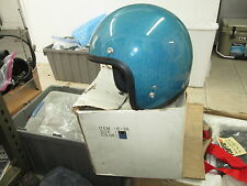 Vintage Shoei Blue Metal Flake DS D3 D-3 5 Snap Cafe Motorcycle Medium Helmet