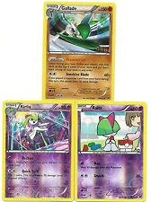 3 XY BREAKThrough EVO Pokemon Cards-GALLADE (Holo)+KIRLIA (RH)+RALTS (RH)