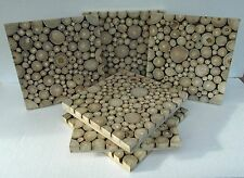 Unusual Wood Place mats - Set of 6 Unique Hand Made wood slice place mats