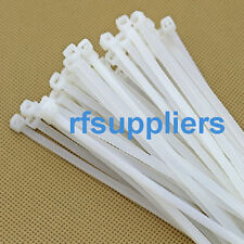 "250pcs 2.8*300mm Nylon Pack 12"" Inch White Network Cable Cord Wire Strap Zip Tie"