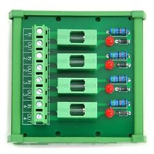 4 Chl Fuse Interface Module, for DC 5~48V, Din Rail Mount, with Fail Indicator