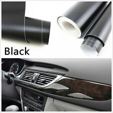 "Black 15""x 39"" DIY 3D Leather Texture Car Interior Decoration Film Vinyl Sticker"