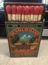"VINTAGE CABINET "" The Hall Of Flame Safety Matches "" Made In Sweden"