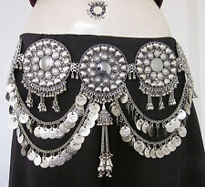 Coin Chain Womens Concho Metal BELT Boho Tribal ats Belly dance Costume Jewelry
