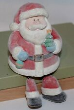 "Velvety Santa with Dangly Legs - Shelf-Sitter - ""Snowy Days"" by RUSS Berrie -"