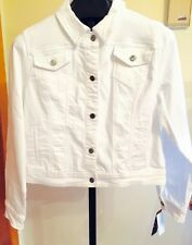 Earl Jean® Denim Stretch Jacket (Summer White) Bling Me Sz XL-NWT'S MSRP $54