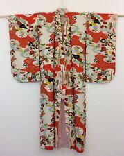 AUTHENTIC seta crepe Kimono giapponese per ragazze, importati dal Giappone (F986)